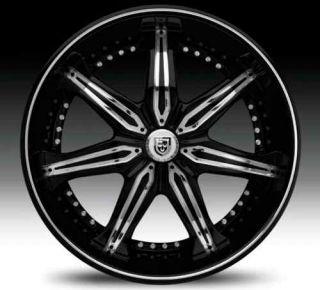 Lexani LX7 Black 305 30 26 Wheels Rims Tires Package