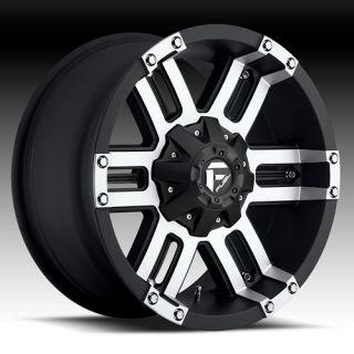 20 x 12 Fuel Gauge Machined 504 5 6 8 Lug Wheels Rims