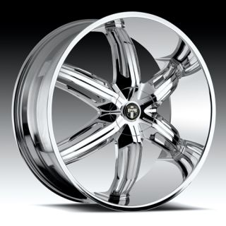 26 x9 5 Dub Drone Chrome 6 Lug Wheels Rims