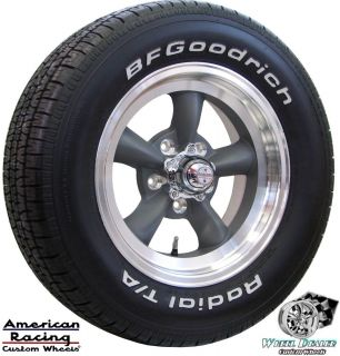 15 GRAY AMERICAN RACING TORQ THRUST WHEELS RIMS & BFG TIRES CHEVY BEL