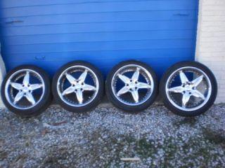 FOOSE Set of 4 Chrome Wheels Tires R18 8 5 18 Rims Mercedes