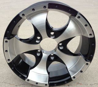 14 Aluminum Ion Black Wheel Rim 5 on 4 5 RV Boat Custom Trailer Wheels