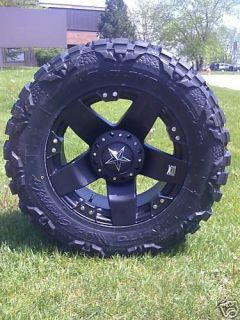 20 Wheels Rims XD Rockstar Matte Black with 35x12 50x20 Nitto Mud