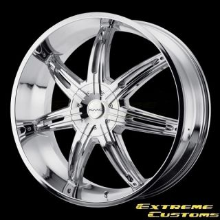 24 x9 5 KMC Wheels KM665 Surge Chrome 5 6 Lug One Single Wheel Rim