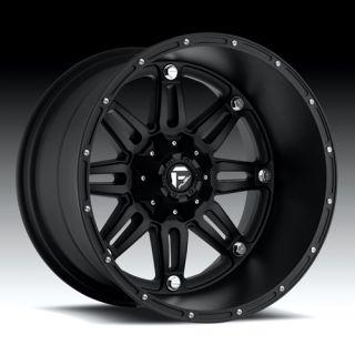 20 x 12 Fuel Hostage Black Deep 5 6 8 Lug Wheels Rims