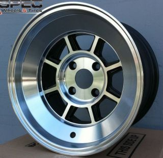 15X8 ROTA SHAKOTAN RIMS 4X100 WHEELS +10MM OFFSET FULL ROYAL BLACK FOR