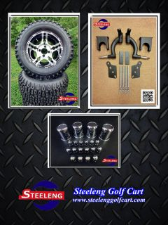 Car Precedent Golf Cart 6 Lift Kit 12 Wheels 23 Tires Combo
