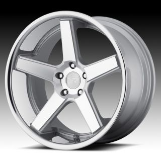 22 inch Niche Nurburg Silver Wheels Rim Staggered 5x120 BMW F12 F01 6