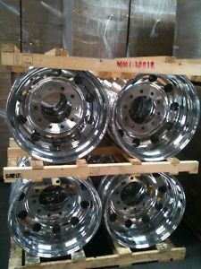 19 5 Alcoa Classic Aluminum Wheels Rims Ford F450 F550 Set of 4