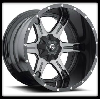 MHT FUEL OFF ROAD D257 DRILLER 2PC 8X170 F250 & F350 BLACK WHEELS RIMS