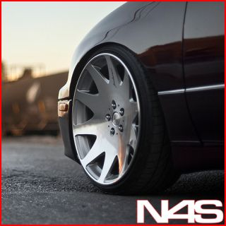 20 Nissan Maxima MRR HR3 Silver VIP Concave Staggered Rims Wheels