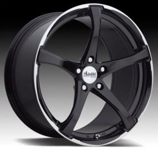 17 Advanti B2 Black Rims Wheels 17x7 42 5x115