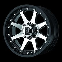 17 Black XD Addict Wheels Rims 6x5 5 6 Lug Chevy GM Toyota Tacoma