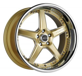 20 Vertini Drift Gold Rims Wheels Nissan 350 Infiniti G35 Coupe Ford