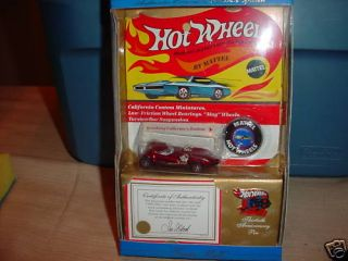 Hot Wheels 30th Anniversary Twin Mill COA Pin Button