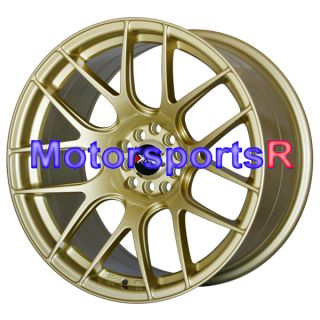 18 XXR 530 Gold Concave Rims Staggered Wheels Stance 95 98 Nissan
