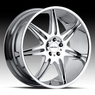22 Driv Royale Chrome Wheel Set 5 Lug 5x115