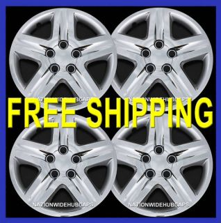 16 Set of 4 Chrome Full Wheel Covers 5 Spoke Hub Caps Rim Cover