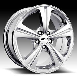 16 x7 MSR 046 0469 Polished Wheels Rims 4 5 Lug