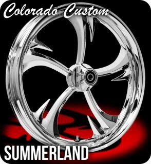 Colorado Custom Wheel Chrome Front Summerland 21 x 3 5 Harley 00 12