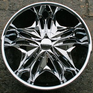 Viscera 728 22 Chrome Rims Wheels Nissan Maxima Altima 22 x 8 5 5H 35
