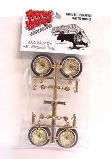Hoppin Hydros 1 24 1 25 Gold Baby Ds Dayton Spoked Wheels Rims
