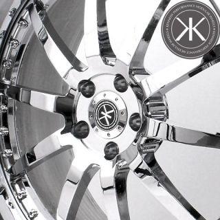 21 Chrome Kennedy Performance Custom 3 Piece Forged Wheels Rims
