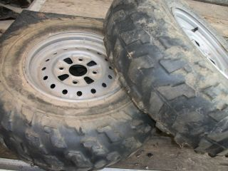 Rancher ES TRX350 OEM Front Rims Wheels 25X8 12 Tires Bridgestone