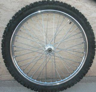 New 23 x 1 60 Custom Harley Polished Aluminum Rim Spool Hub Wheel with