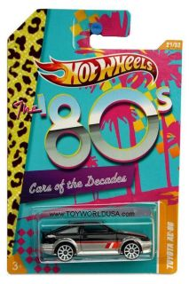 Hot Wheels Cars of The Decades 21 Toyota Corolla AE 86 The 80s