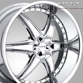 22 MOZ Chrome Rims Wheels Ford Lincoln F150 6x135