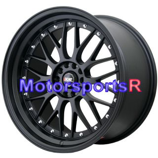 521 Flat Black Rims Wheels Staggered 5x114.3 Stance 5x120 5x4.5 ET +25