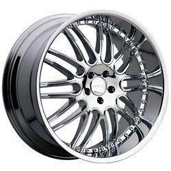 22 inch Menzari Z10 Chrome Wheels Rims 5x120 25 BMW 5 6 7 Series Range