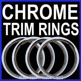 Chrome Wheel Trim Rings Beauty Rims Glamour Ring Rim Tire Bands