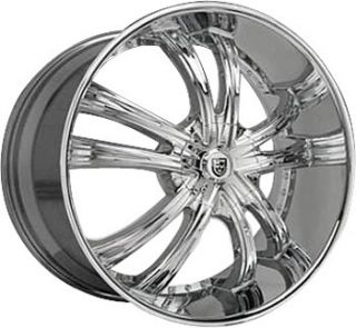 28 Lexani LSS 55 Chrome Wheels Rims Silverado GMC 26