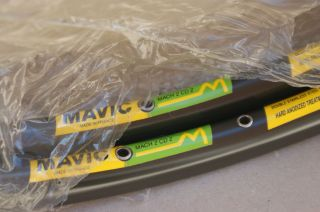 New Vintage Mavic Mach 2 CD 2 Tubular Rims 32 H 700 C 28 Pair