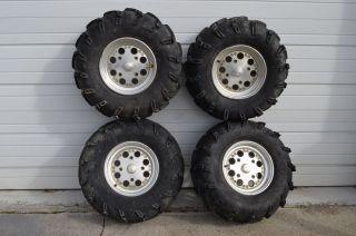 Am Renegade 800 EFI Front & Rear Wheels Rims & 27 Itp Mudlite Tires