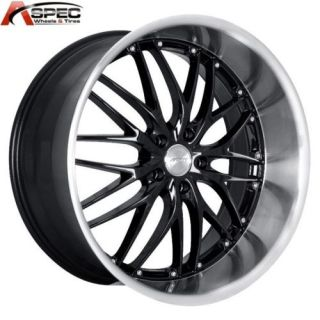 MRR GT1 18x9 5 5x120 45 Black Machined Rims Wheels