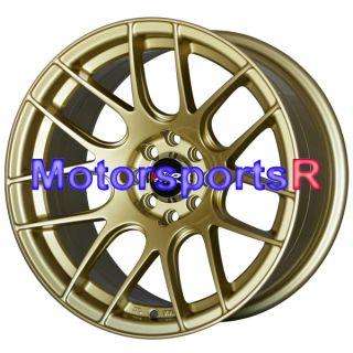 15 15x8 XXR 530 Gold Concave Rims Wheels Stance 4x100 98 Honda Civic