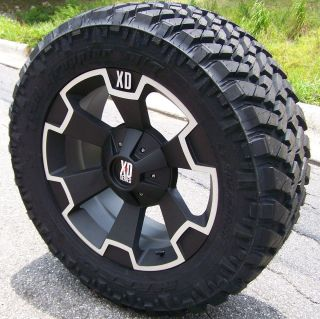 20 XD THUMP WHEELS 33 NITTO TRAIL GRAPPLER TIRES GMC SIERRA 2500 3500
