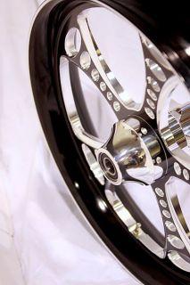 21 Black Contrast Wheel Rim FLHX FLTR 2010 2012 Harley Touring Bagger