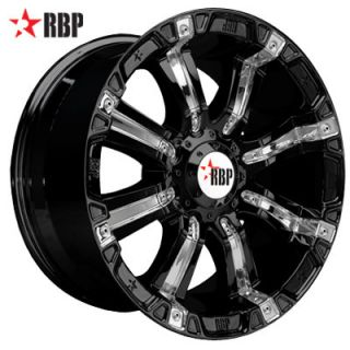 20 RBP 94R Wheels Tires Black Offroad 20 inch Rims