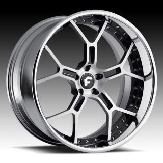 30 Forgiato GTR Black Polished Wheels Old School Donk Cadillac Chevy