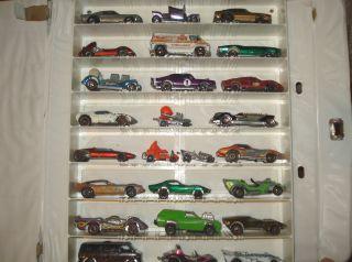 1968 MATTEL CARRY CASE & 25 HOT WHEELS CARS 18 REDLINES, 3 ZOWEES 4
