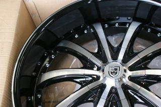 24 inch Lexani LSS 10 Land Range Rover Wheels Rims Blk