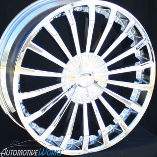 24 Fusion Chrome Wheels Rims inch Tahoe Yukon Sierra