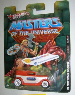 Masters of The Universe 34 Ford Sedan Hot Wheels 2011 Nostalgia He Man