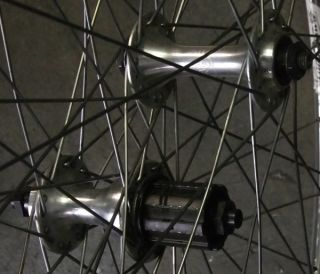 700c 32 Spoke 3X Campagnolo Veloce Hubs Mexico 68 HPB Rims Wheel Set