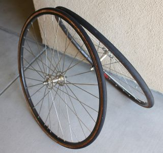 Campagnolo Record Pista Wheel Set Laced to Mavic Rims 32h
