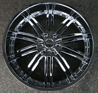 Menzari Z08 26 Chrome Rims Wheels Nissan Titan Pickup Truck 35 26 x